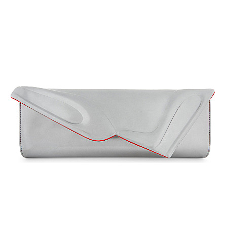 CHRISTIAN LOUBOUTIN So Kate Baguette clutch specchio (Silver