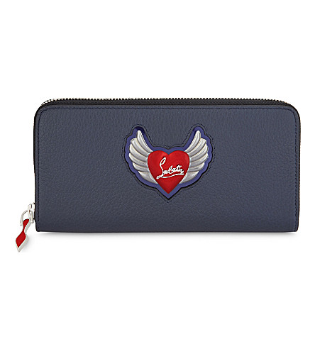 CHRISTIAN LOUBOUTIN Panettone leather wallet (Nuit/multi