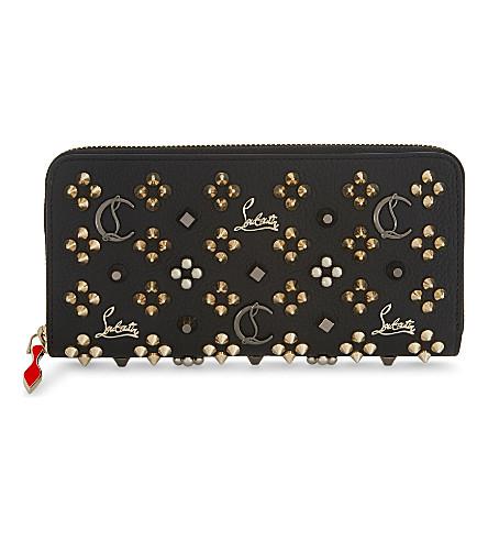 CHRISTIAN LOUBOUTIN Panettone wallet (Black/multimetal