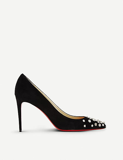 christian.louboutin spiked beige