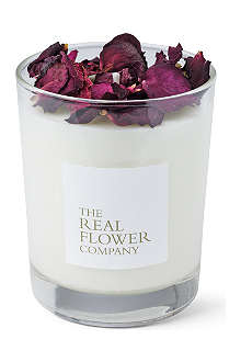 THE REAL FLOWER COMPANY Scented garden rose candle