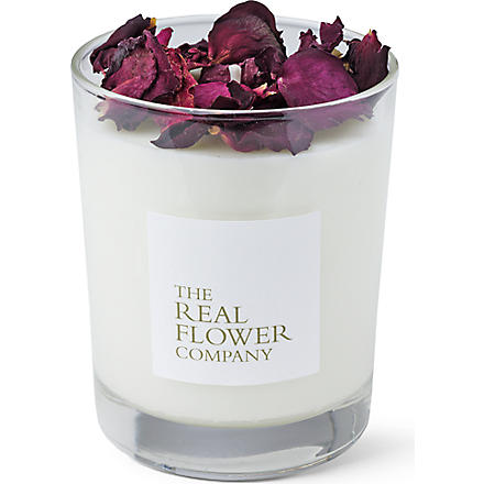THE REAL FLOWER COMPANY Garden Rose scented candle