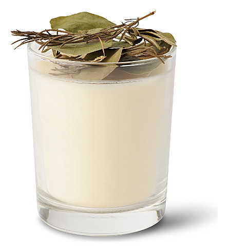 THE REAL FLOWER COMPANY Rosemary and Eucalyptus scented candle