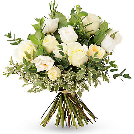 THE REAL FLOWER COMPANY Scented ivory hand tied bouquet
