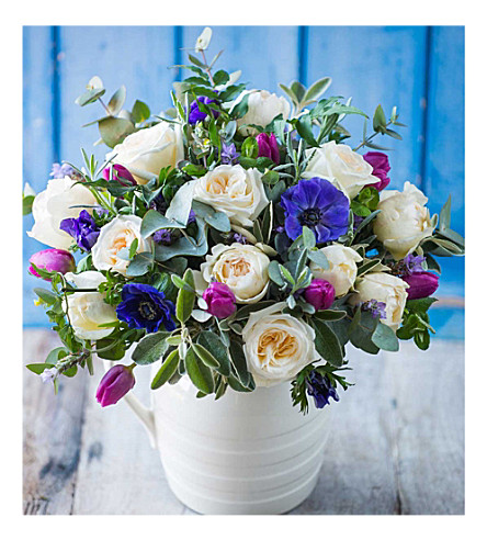 THE REAL FLOWER COMPANY Amethyst and cobalt bouquet