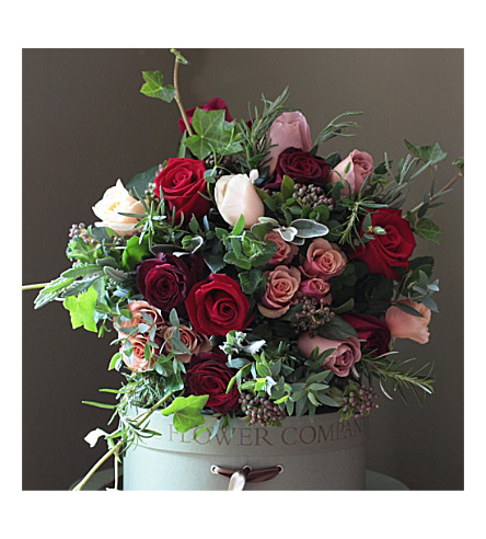THE REAL FLOWER COMPANY Scented Luxury Antique & Red Rose bouquet