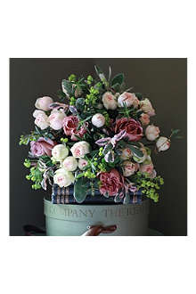 THE REAL FLOWER COMPANY Antique Rose & Herb luxury flower bouquet