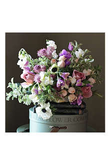 THE REAL FLOWER COMPANY Antique Rose & Sweetpea bouquet