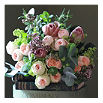 THE REAL FLOWER COMPANY Antique & Pavlova bouquet