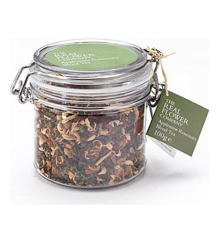 THE REAL FLOWER COMPANY Applemint Rosemary blend loose tea 100g