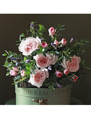 THE REAL FLOWER COMPANY Scented blush pink & lavender posy