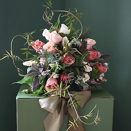 THE REAL FLOWER COMPANY Chelsea antique rose 21 stem bouquet