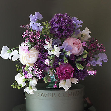 THE REAL FLOWER COMPANY Chelsea flower garden bouquet