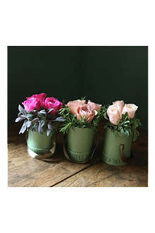 THE REAL FLOWER COMPANY Chelsea trio of three-stem hat boxes