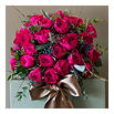 THE REAL FLOWER COMPANY David Austin 24 Darcey rose bouquet