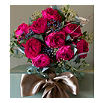 THE REAL FLOWER COMPANY David Austin Darcey Festive Rose bouquet