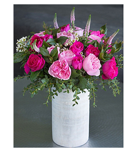 THE REAL FLOWER COMPANY David Austin Mixed Pink bouquet