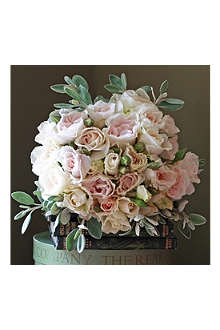 THE REAL FLOWER COMPANY English roses blush ivory