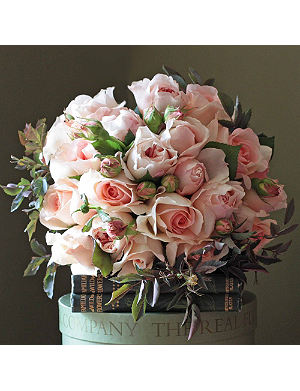THE REAL FLOWER COMPANY English roses blush peach