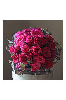 THE REAL FLOWER COMPANY English roses hot pink