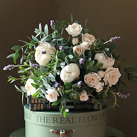 THE REAL FLOWER COMPANY Fresh lavender & ivroy rose bouquet
