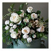 THE REAL FLOWER COMPANY Gold and ivory posy