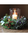 THE REAL FLOWER COMPANY Christmas Grouped Foliage Table Wreath