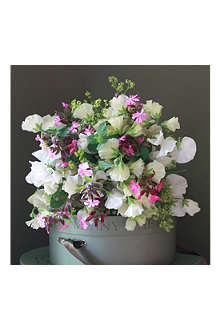 THE REAL FLOWER COMPANY English Ivory Sweet Pea & Wild Flower posy