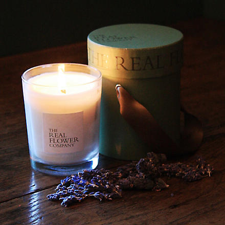 THE REAL FLOWER COMPANY Lavender scented candle