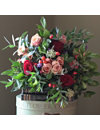 THE REAL FLOWER COMPANY Christmas Scented Red & Antique Rose bouquet