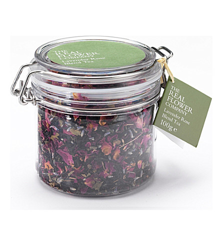 THE REAL FLOWER COMPANY Lavender Rose blend loose tea 100g (No+colour