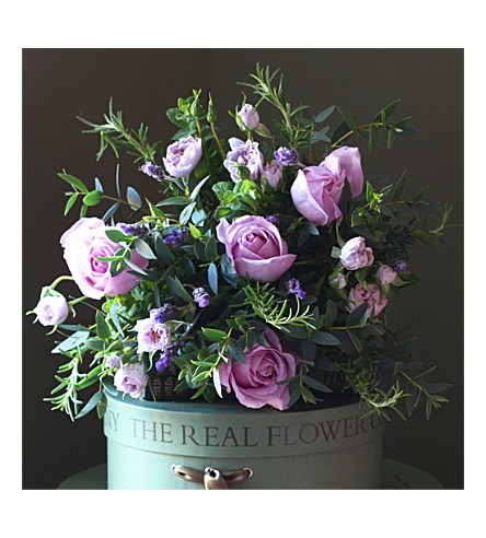 THE REAL FLOWER COMPANY Lavender rose bouquet