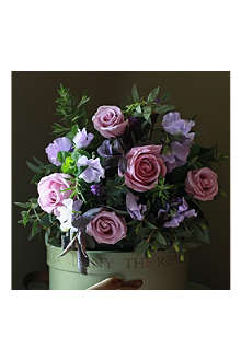 THE REAL FLOWER COMPANY Lavender Rose & Sweet Pea luxury scented flower bouquet