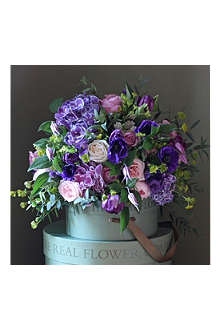 THE REAL FLOWER COMPANY Luxury Scented Spring Purple Garden Bouquet