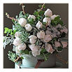 THE REAL FLOWER COMPANY Luxury scented ivory 18-stem bouquet