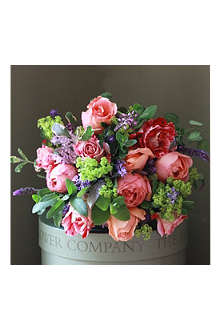 THE REAL FLOWER COMPANY English Perfumed Roses Oranges & Reds bouquet