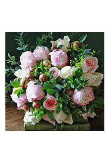 THE REAL FLOWER COMPANY Pastel & Peony Rose luxury flower bouquet