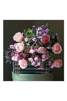 THE REAL FLOWER COMPANY Peach roses & wildflowers