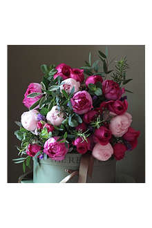 THE REAL FLOWER COMPANY Scented pink garden rose & herb bouquet