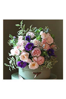 THE REAL FLOWER COMPANY Scented Pink Rose & Anemone bouquet
