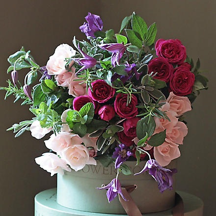 THE REAL FLOWER COMPANY Pink Rose Clematis bouquet