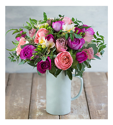 THE REAL FLOWER COMPANY Raspberry Latte bouquet