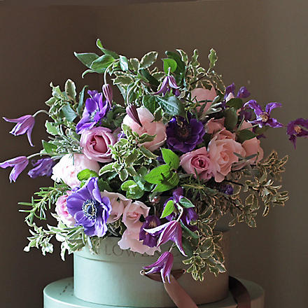 THE REAL FLOWER COMPANY Pastel Rose Anemone & Clematis bouquet