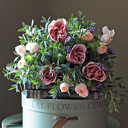 THE REAL FLOWER COMPANY Scented Antique Rose Posy bouquet