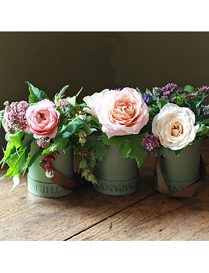 THE REAL FLOWER COMPANY Scented Autumn Rose hat box trio