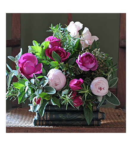 THE REAL FLOWER COMPANY Scented Mixed Pink Posy bouquet