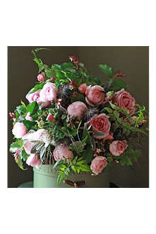 THE REAL FLOWER COMPANY Scented Pink Autumnal bouquet