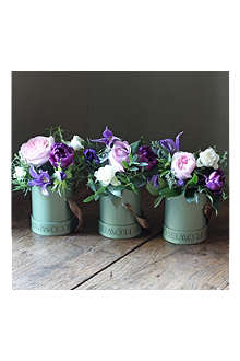 THE REAL FLOWER COMPANY Scented Spring Purple Hat Box Trio