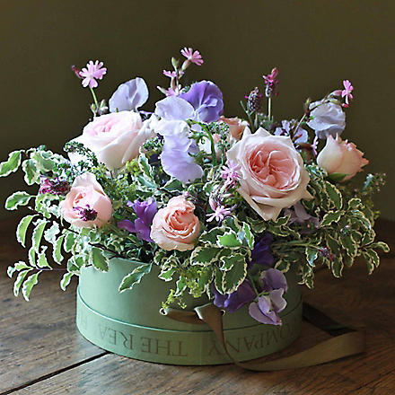 THE REAL FLOWER COMPANY Scented Summer hat box arrangement