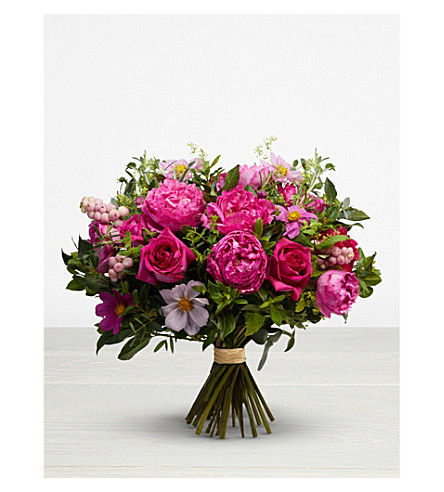 THE REAL FLOWER COMPANY Seasonal Hot Pink Bouquet
